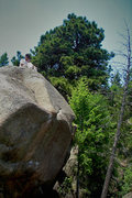 Rock Climbing Photo: Said gathering notes and marking some G.P.S. data ...