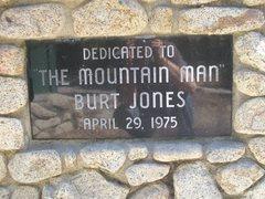 Rock Climbing Photo: DEDICATED TO THE MOUNTAIN MAN BURT JONES