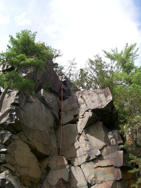 Tourist Rocks at Interstate Park, Taylor's Falls -- MN side.  First place I ever set an anchor.