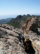 Rock Climbing Photo: Amelia and I scampered up Mt. Allen in the Sta. Mo...