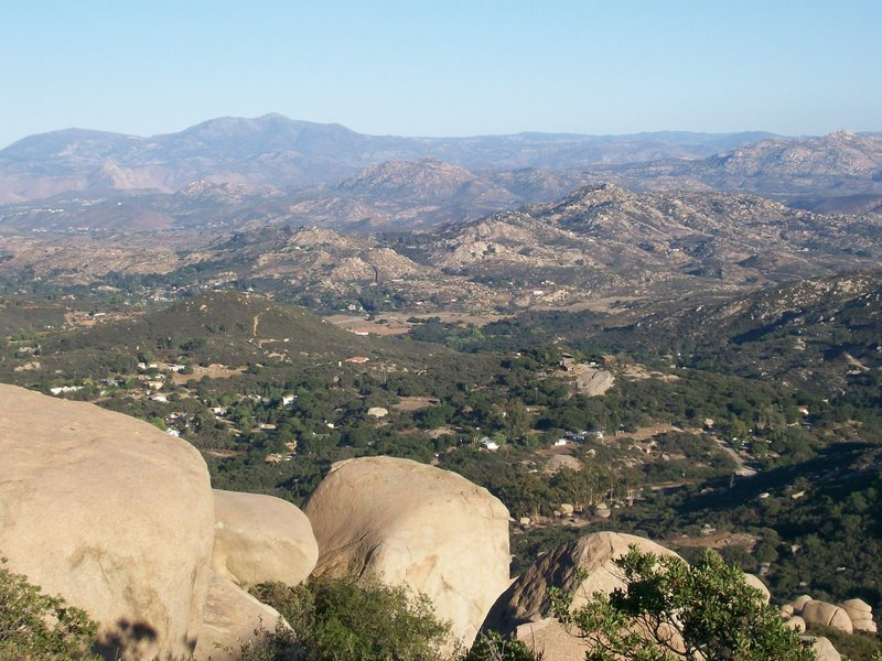 View from Mt. Woodson above Poway.  God it was hot that day.