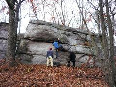 Rock Climbing Photo: cresent moon