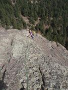 Rock Climbing Photo: Where the NE ridge levels out....