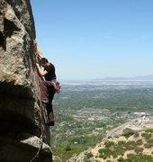 Rock Climbing Photo: Lance, above the hearth