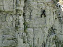 Rock Climbing Photo: Lance climbing Steel Reserve - Onsight.