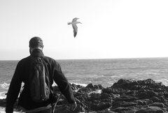 Rock Climbing Photo: The sea calms me ever so beautifully. : )