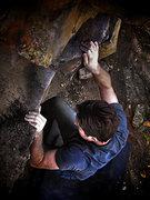 Rock Climbing Photo: Dustin Walker climbing at Morrison.