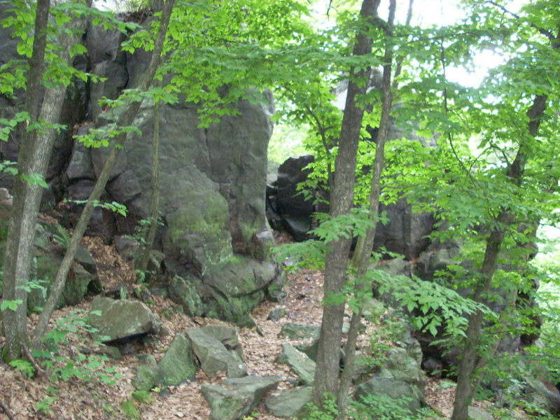 """Rock Climbing Photo: View if you're standing on the paved trail. """"..."""
