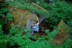 Rock Climbing Photo: Crux moves on Trust.