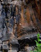 Rock Climbing Photo: On the way down...