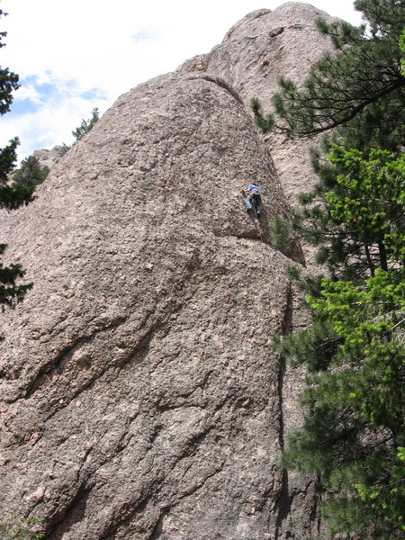 Rock Climbing Photo: Evan Ratzen, Dominating the Quadruple P.