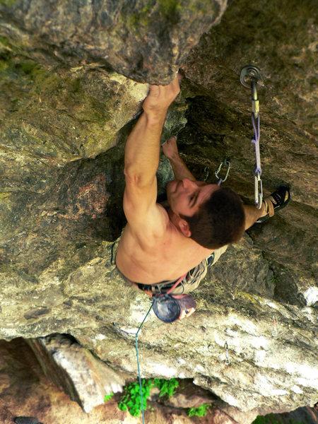 Rock Climbing Photo: Stick it!  ...Emile on the crux of Orangahang