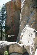 Rock Climbing Photo: Dirty Dancing Topo