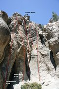 Rock Climbing Photo: The Alchove - Center Left Topo