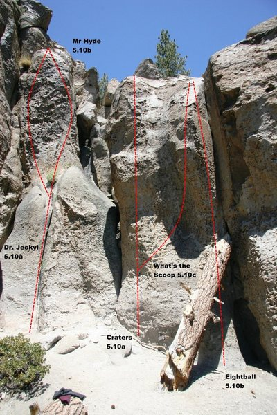 Rock Climbing Photo: The Alchove - Center Topo