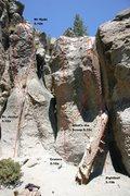 Rock Climbing Photo: The Alchove - Center Topo