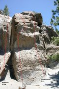 Rock Climbing Photo: The Alchove - Center Right Topo