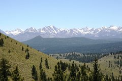 Rock Climbing Photo: The Sierras from Clark Canyon - Bloody Couloir is ...