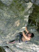 Rock Climbing Photo: Emile emerging from the pseudo-rest as he starts t...