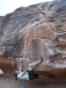 Rock Climbing Photo: dave b working on the hueco traverse june 2009