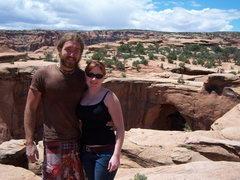Rock Climbing Photo: dave b & me @ gemini bridges after climbing at cra...