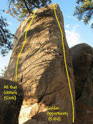 Rock Climbing Photo: Photo/topo for The Ingot, Holcomb Valley Pinnacles...