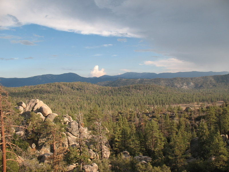 Looking into Holcomb Valley from the Pinnacles, Big Bear