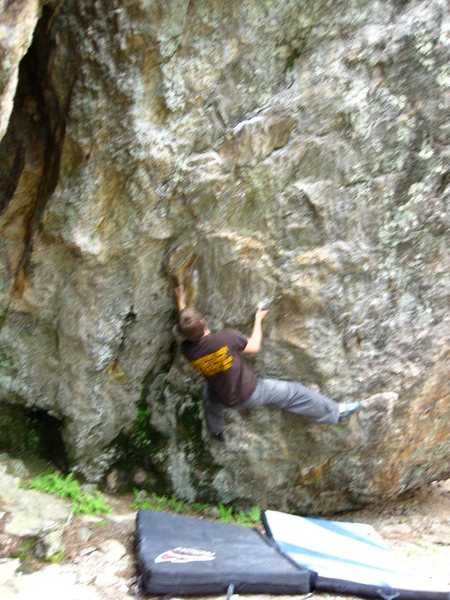Rock Climbing Photo: Zach Keeney on Schist Overhang