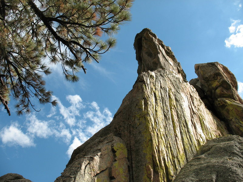 The right side of Motherlode Rock's North Face (aka Lizard Head), Holcomb Valley Pinnacles