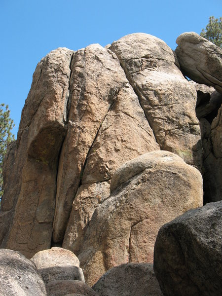 South side of Parking Lot Rock, Holcomb Valley Pinnacles. <br>