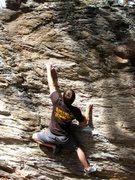 Rock Climbing Photo: Zach Keeney at the crux
