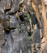 Rock Climbing Photo: Mike S. passing the crux!  Sports action!  Nice on...