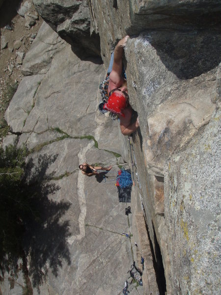 Regular Route, A.K.A. Mark of Zorro<br> Boulder Canyon