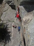 Rock Climbing Photo: Regular Route, A.K.A. Mark of Zorro Boulder Canyon