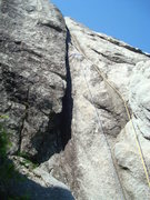 Rock Climbing Photo: The start of the fourth pitch