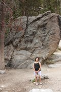 Rock Climbing Photo: Savannah posing in front of RSR 3