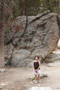 Rock Climbing Photo: Savannah posing in front of RSR 3