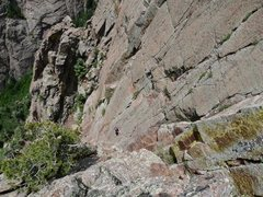 Rock Climbing Photo: Me attempting the crux on Western Justice  Photo b...