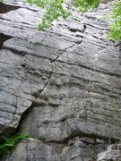 Rock Climbing Photo: Good Friday Climb is the fainter crack to the righ...