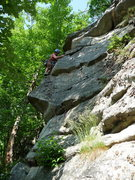 Rock Climbing Photo: Renee finding the 5.5 way up Short and Sassy.