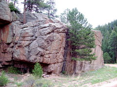 Rock Climbing Photo: Note same block with tree somewhat obscuring the h...