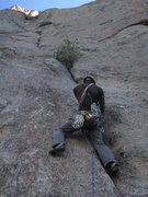 Rock Climbing Photo: Getting some gear just before the hardest moves of...