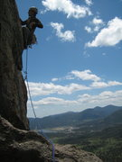Rock Climbing Photo: working through the opening moves of P3.  If this ...