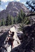 Rock Climbing Photo: Bouldering below the Halidome, Cone Mountain, Empi...
