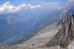 Rock Climbing Photo: Looking up the valley from high up on the South si...