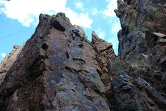 Rock Climbing Photo: Leading Churchill Rejects 5.9+