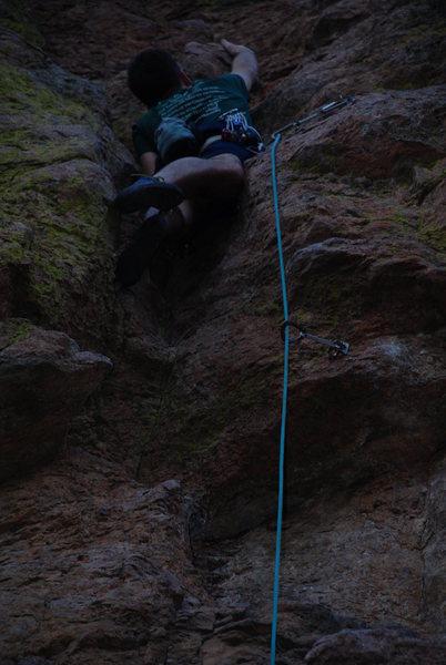 Rock Climbing Photo: Jason on Cheerleaders Gone Hippie 5.9+