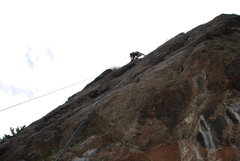 Rock Climbing Photo: Leading Poker Face at High Wire