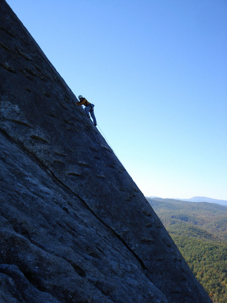 Rock Climbing Photo: This gives a good idea of the angle of Sundial Cra...