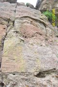 Rock Climbing Photo: Face climb between the obvious The Ladder and Cons...